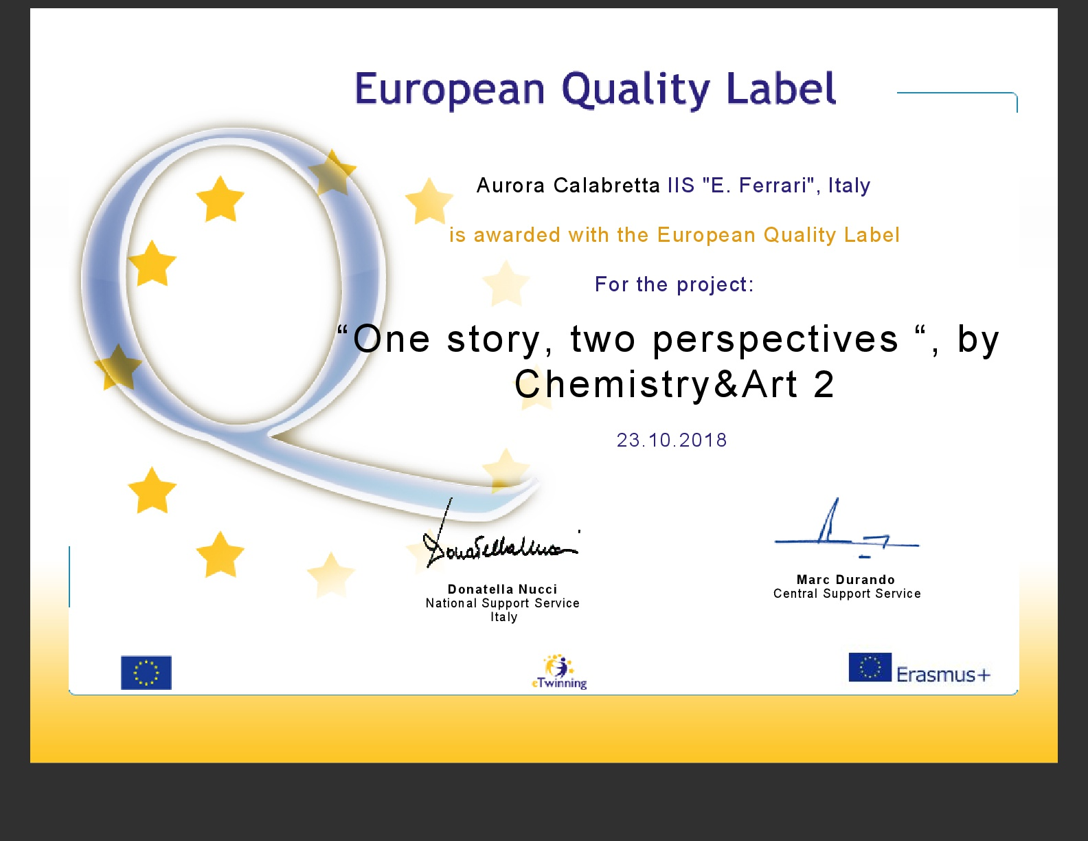 europeanqualitylabel Calabretta 16 17 1-001